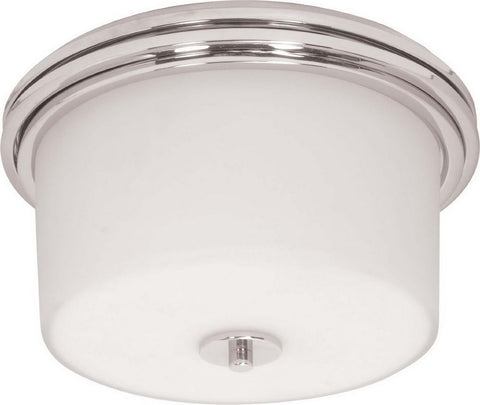 Nuvo Lighting 60-1069 Jet Collection Two Light Flush Ceiling in Polished Chrome Finish - Quality Discount Lighting