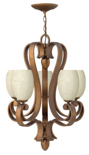 Hinkley Lighting Fredrick Ramond FR43515BRC Dolce Collection Five Light Hanging Chandelier in Brushed Cinnamon Finish