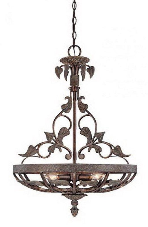 Craftmade Lighting 23333 TG Surrey Park Collection Three Light Pendant Chandelier in Titan Gilded Finish