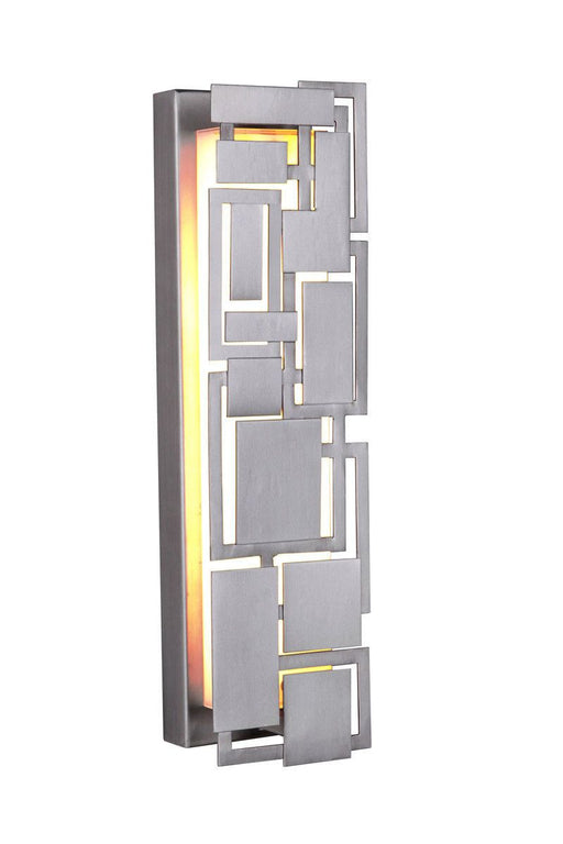 Craftmade Lighting 13718CM-LED Oak Park Collection LED 18 Inch Wall Sconce in Chromite Finish