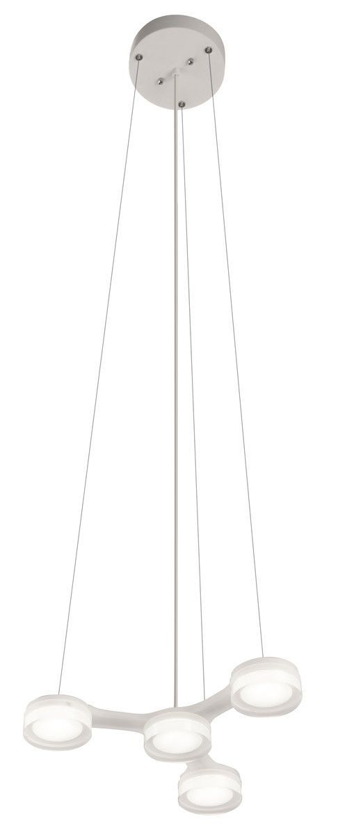 Elan by Kichler Lighting 83017 Neron Collection LED Hanging Pendant Chandelier in White Finish