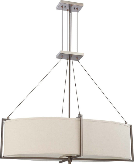 Nuvo Lighting 60-4456 Portia Collection Oval Six Light Hanging Pendant Chandelier in Hazel Bronze Finish - Quality Discount Lighting