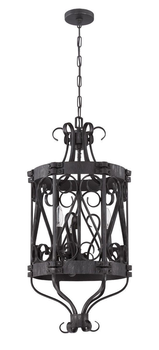 Craftmade Lighting 37933 CHL Ellsworth Collection Three Light Pendant Chandelier in Charcoal Finish