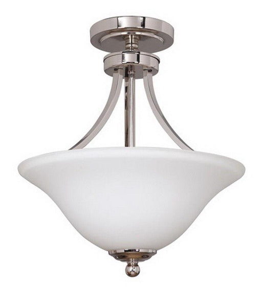 Craftmade Lighting 9816PLN2 Portia Collection Two Light Convertible Semi Flush Ceiling and Pendant Chandelier in Polished Nickel Finish