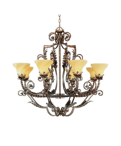 Hinkley Lighting Fredrick Ramond FR493331GQU Eight Light Hanging Chandelier in Gold Quartz Finish