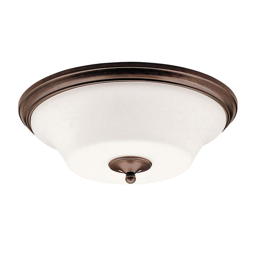 Aztec 38913 by Kichler Lighting Hamden Collection Three Light Flush Ceiling Mount in Olde Auburn Finish - Quality Discount Lighting