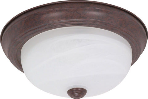 Nuvo Lighting 60-2624 Signature Collection Two Light Energy Star Efficient GU24 Flush Ceiling Mount in Old Bronze Finish