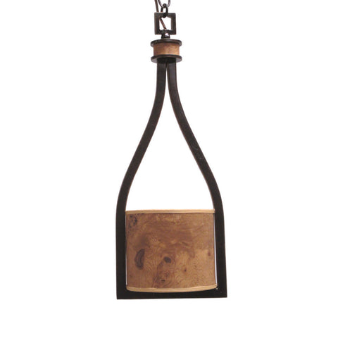 Kalco Lighting 2756 RM New Haven Collection One Light Pendant in Royal Mahogany Finish