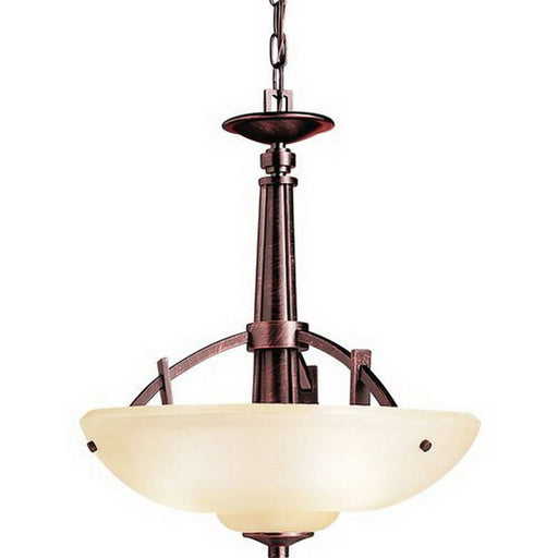 Aztec 34946 by Kichler Lighting Columbiana Collection Three Light Hanging Pendant Chandelier in Olde Auburn Finish - Quality Discount Lighting
