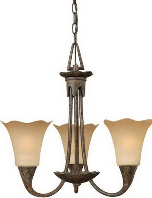 Hinkley Lighting 4283TI Jardino Collection Three Light Hanging Pendant Chandelier in Tuscan Iron Finish - Discount Lighting Fixtures