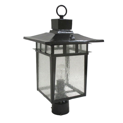 Epiphany Lighting 104914 BK One Light Cast Aluminum Outdoor Exterior Post Lantern in Black Finish - Discount Lighting Fixtures