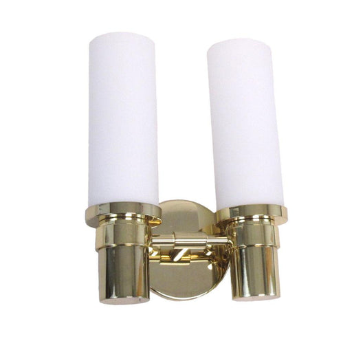 Oxygen Lighting 2-595-102 Two Light Pebble Collection Energy Efficient Fluorescent Wall Sconce in Polished Brass Finish