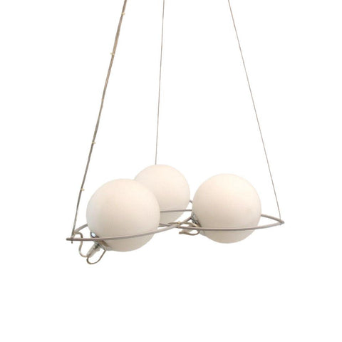 Oxygen Lighting 2-645-59 Ghita Collection Hanging Pendant Chandelier in Silver Graphite Finish