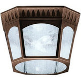 Aztec 39914 By Kichler Lighting Elgin Collection Two Light Outdoor Flush Ceiling Lantern in Burnished Bronze Finish | Ceiling Lights Collection