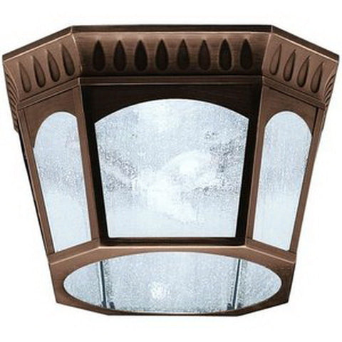 Aztec 39914 By Kichler Lighting Elgin Collection Two Light Outdoor Flush Ceiling Lantern in Burnished Bronze Finish - Quality Discount Lighting