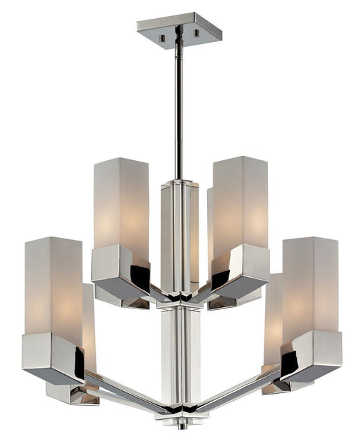Z-Lite Lighting 607-8 Zen Collection Eight Light Hanging Chandelier in Polished Chrome Finish