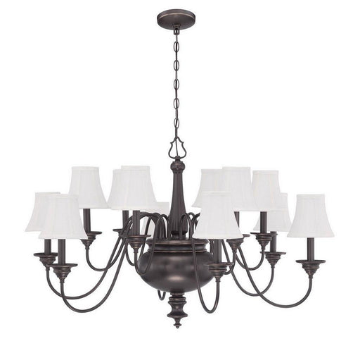Craftmade Lighting 39612 LB Beaumont Collection Twelve Light Hanging Chandelier in Legacy Brass Bronze Finish