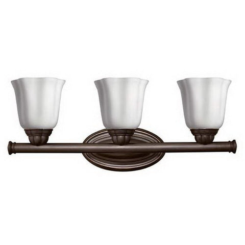Hinkley Lighting 5143SE Casandra Collection Three Light Bath Vanity Wall Fixture in Sunset Bronze Finish - Discount Lighting Fixtures