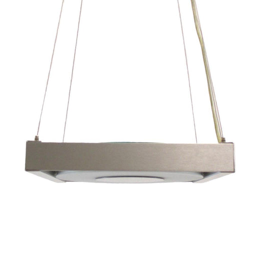 Oxygen Lighting 2-6118-16 One Light Energy Efficient Hanging Pendant in Aluminum Finish