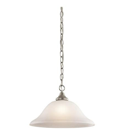 Kichler Lighting 43172NI Monroe Collection One Light Hanging Pendant Chandelier in Brushed Nickel Finish