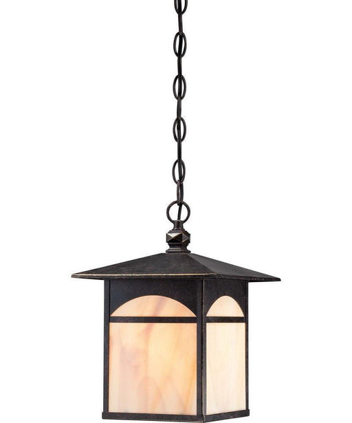 Nuvo Lighting 60-5754 Canyon Collection One Light Energy Efficient GU24 Exterior Outdoor Hanging Lantern in Umber Bronze Finish