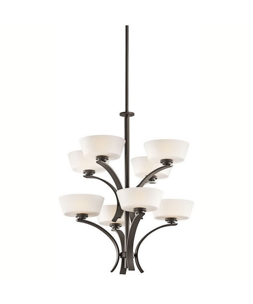 Aztec 34979 by Kichler Lighting Rise Collection Eight Light Hanging Chandelier in Olde Bronze Finish - Quality Discount Lighting
