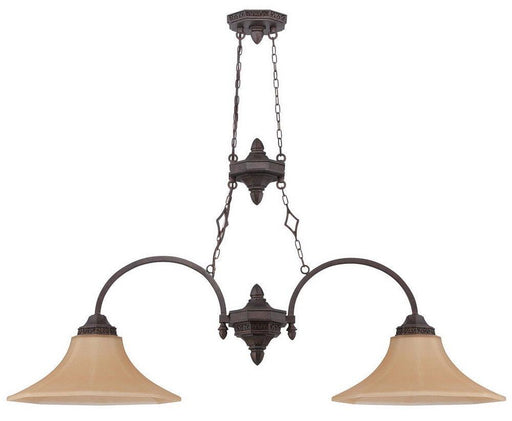 Craftmade Lighting 36472 PR Evangeline Collection Two Light Island Pendant Chandelier in Peruvian Bronze Finish