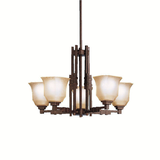 Aztec 34903 by Kichler Lighting Silverton Collection Five Light Hanging Chandelier in Tannery Bronze Finish - Quality Discount Lighting