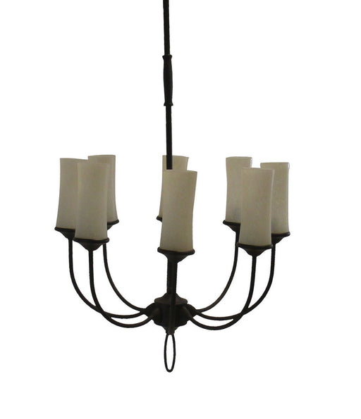Adjustapost Lighting LPX-LVR41168 Eight Light Chandelier in Bronze Finish