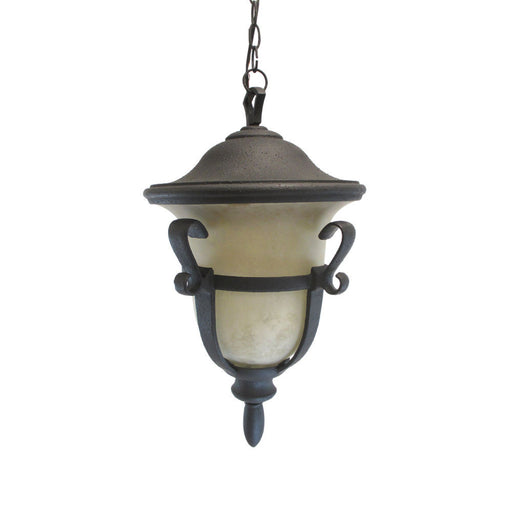 Kalco Lighting 9396 MB-PL One Light Energy Efficient Outdoor Exterior Hanging Pendant Lantern in Matte Black Finish - Quality Discount Lighting