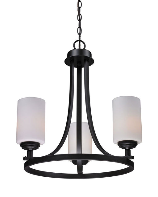 Z-Lite Lighting 2006-3 Chambley Collection Three Light Hanging Chandelier in Oil Rubbed Bronze Finish