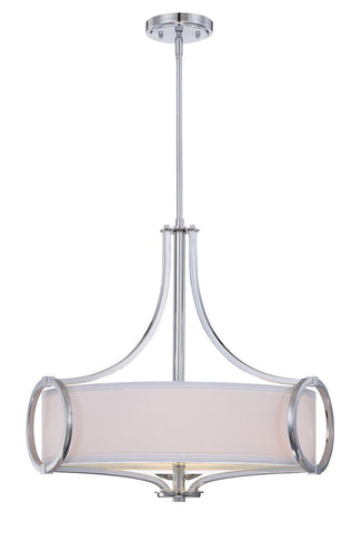 Designers Fountain Lighting 84031-CH Mirage Collection Three Light Hanging Pendant Chandelier in Polished Chrome Finish