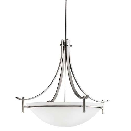 Kichler Lighting 3278APFL Olympia Collection Three Light Energy Efficient Pendant Chandelier in Antique Pewter Finish