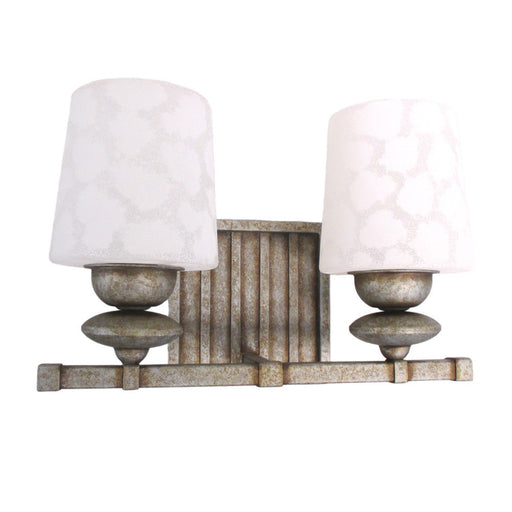 Kalco Lighting B6682 VN Beverly Collection Two Light Bath Vanity Wall Sconce in Volcanic Nickel Finish