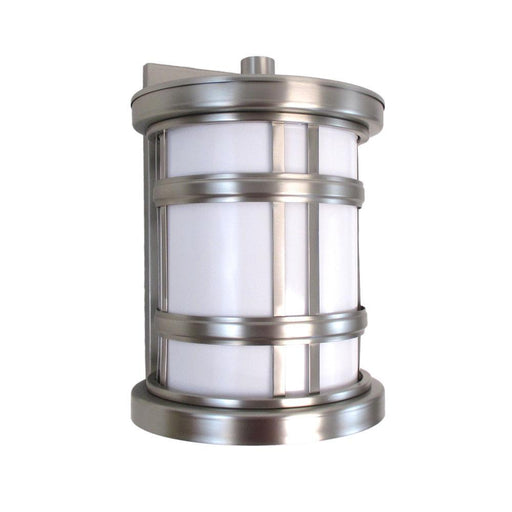 Oxygen Lighting 2-700-224 Stratford Collection One Light Energy Efficient Fluorescent Outdoor Exterior Wall Lantern in Satin Nickel Finish