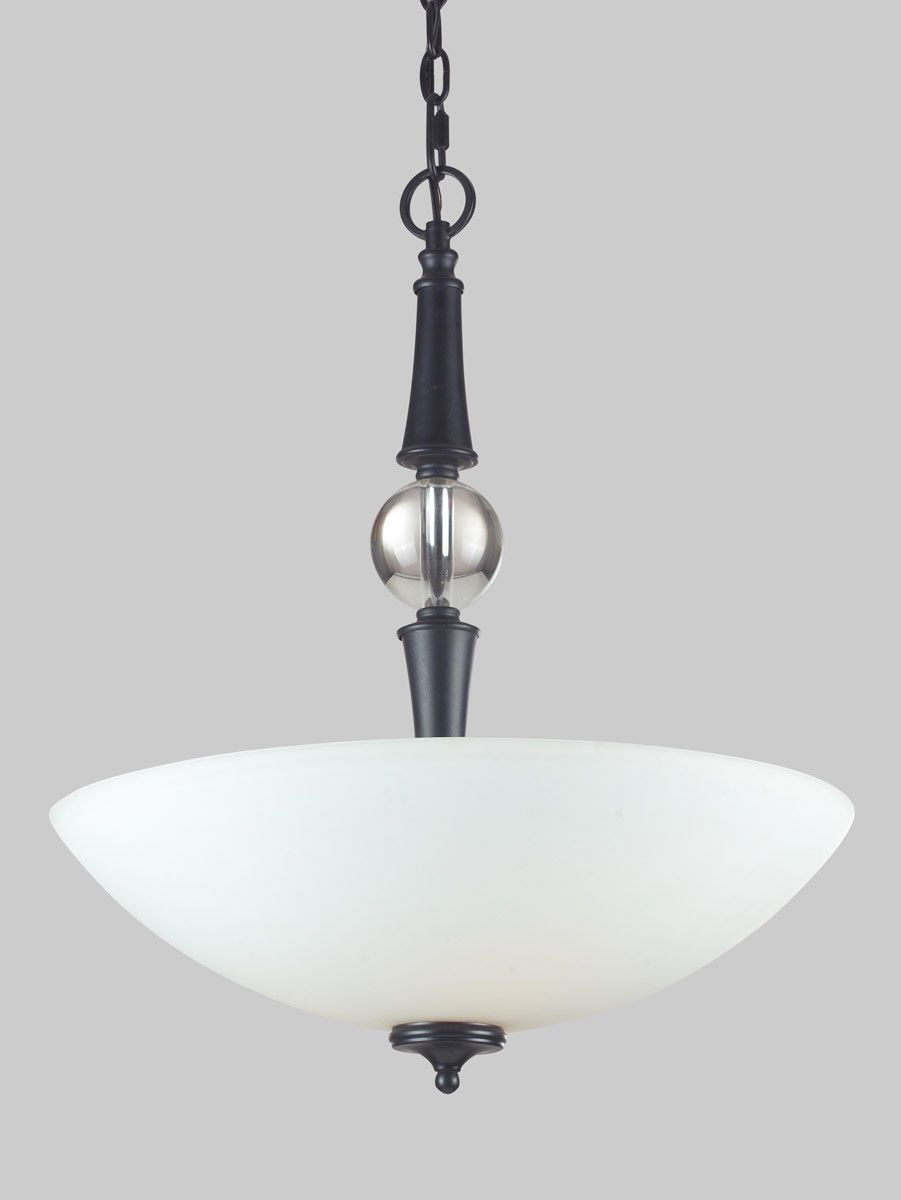 Z-Lite Lighting 604P Harmony Collection Three Light Pendant Chandelier in Matte Black Finish & Z-Lite Lighting 604P Harmony Collection Three Light Pendant ...