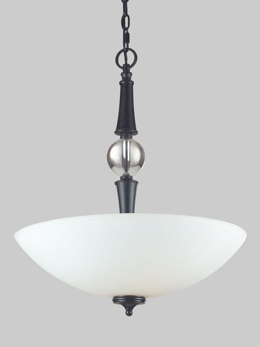 Z-Lite Lighting 604P Harmony Collection Three Light Pendant Chandelier in Matte Black Finish