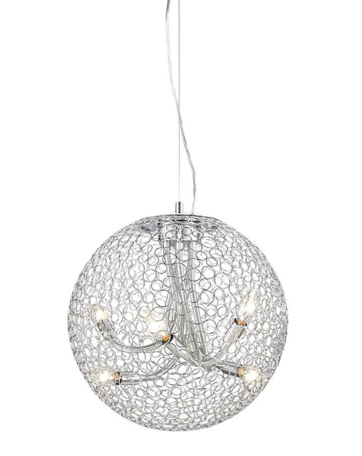Z-Lite Lighting 175-18 Saatchi Collection Six Light Hanging Pendant in Chrome Finish