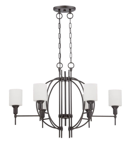 Craftmade Lighting 37276 ESP Meridian Collection Six Light Linear Pendant Chandelier in Espresso Finish
