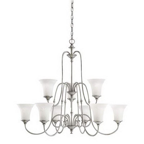 Aztec by Kichler Lighting 34976 Nine Light Northampton Collection Hanging Chandelier in Antique Pewter Finish - Quality Discount Lighting
