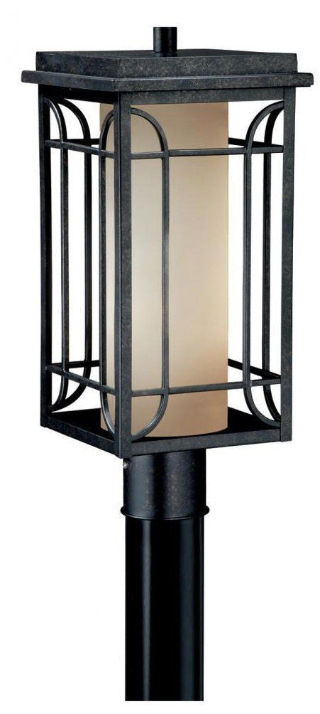Vaxcel Lighting NP OPU080GT Newport Collection One Light Outdoor Exterior  Post Lantern In Gold Stone