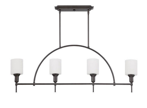 Craftmade Lighting 37274 ESP Meridian Collection Four Light Linear Pendant Chandelier in Espresso Finish