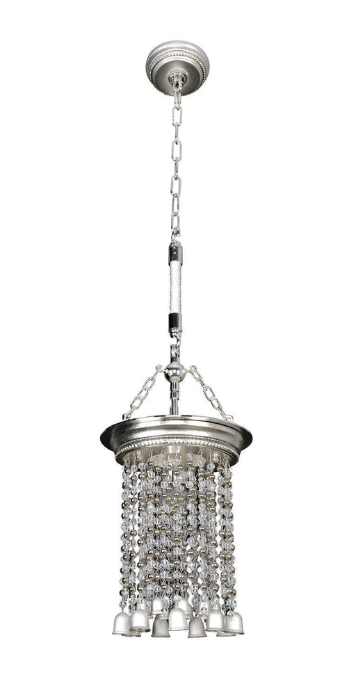Kalco Lighting 026651-017-FR0010 Clare Collection One Light Hanging Pendant in Two Tone Silver Finish