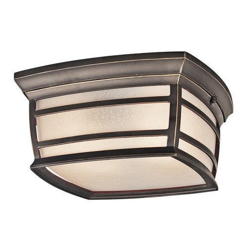 Kichler Lighting 49277RZFL McAdams Collection Two Light Energy Saving Exterior Outdoor Ceiling Mount in Rubbed Bronze Finish