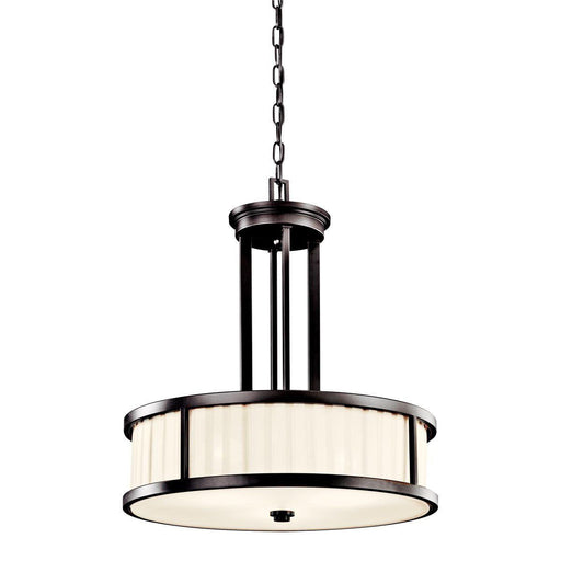Aztec 34970 by Kichler Lighting Camargo Collection Three Light Hanging Pendant Chandelier in Olde Bronze Finish - Quality Discount Lighting