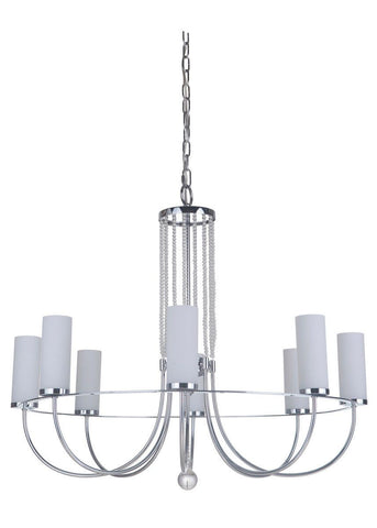 Craftmade Lighting 40628 CH Cascade Collection Eight Light Hanging Chandelier in Polished Chrome Finish