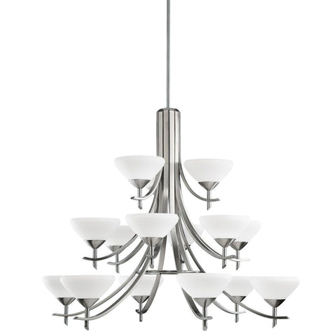 Kichler Lighting 1861 AP Olympia Collection Twenty Light Chandelier in Antique Pewter Finish