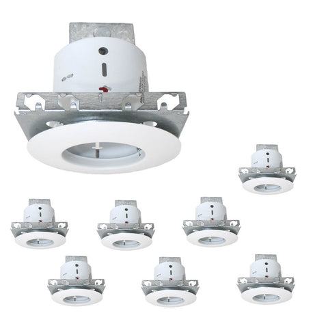 "Designers Fountain Lighting RK500 8 PACK of 5"" New Construction or Remodel Non IC Recessed Can and Open Trim in White Finish - Quality Discount Lighting"