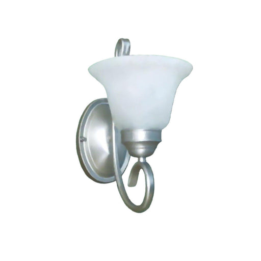 Epiphany Lighting 103121 SL One Light Wall Sconce in Painted Silver Finish - Quality Discount Lighting