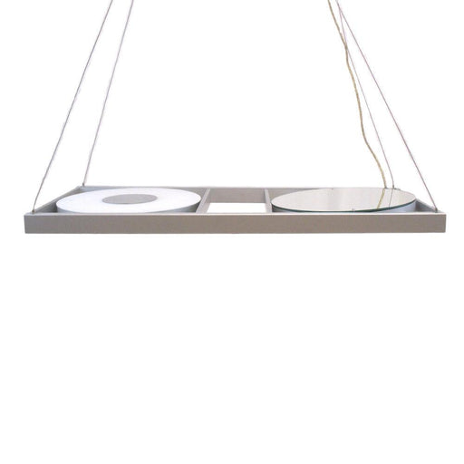 Oxygen Lighting 2-6120-16 Two Light Energy Efficient Hanging Pendant Chandelier in Aluminum Finish